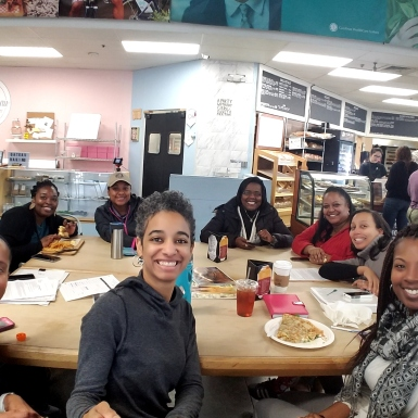 Support group meeting at local eatery
